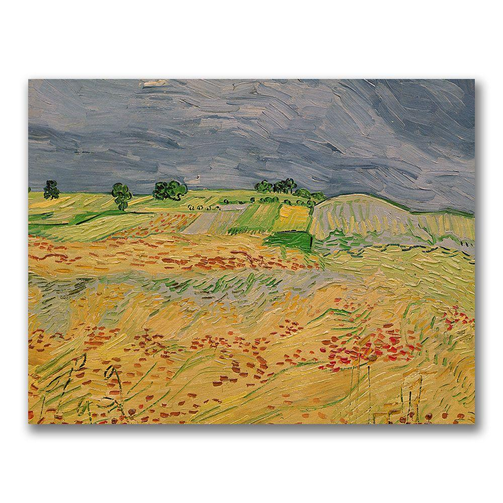 Trademark Fine Art 24 in. x 32 in. Plain at Auvers, 1890 Canvas Art