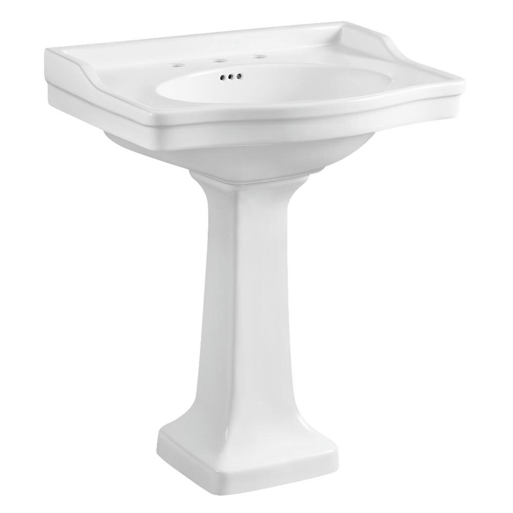 Kingston Brass Washbasin Pedestal Combo Bathroom Vessel Sink With 8