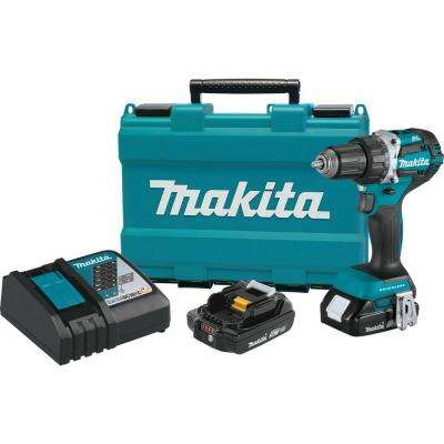 18-Volt LXT Lithium-Ion Compact Brushless Cordless 1/2 in. Driver-Drill Kit w/ (2) Batteries (2.0Ah), Charger, Hard Case