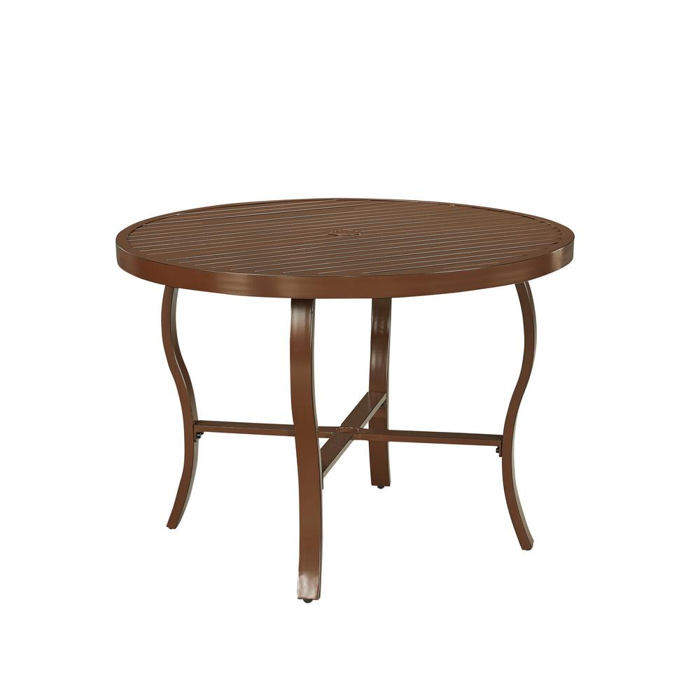 Key West Extruded Aluminum Round Outdoor Dining Table