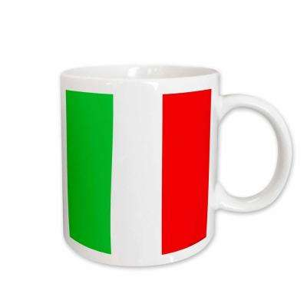 Flags 11 oz. White Ceramic Italian Flag Mug