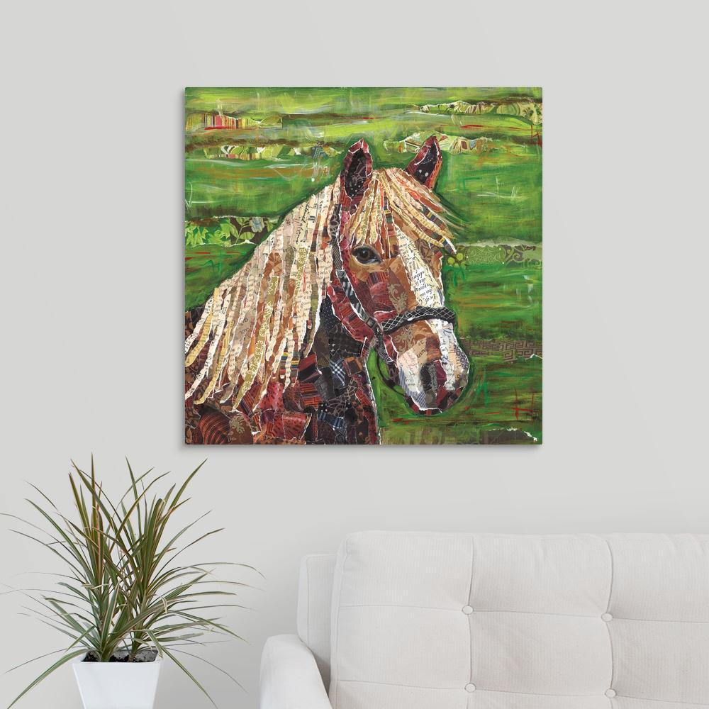 """Horse Collage"" by Lori Siebert Canvas Wall Art"