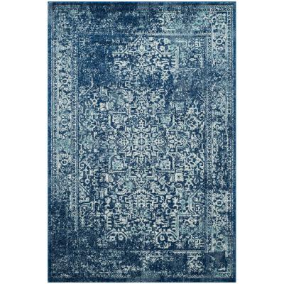 Evoke Navy/Ivory 4 ft. x 6 ft. Area Rug