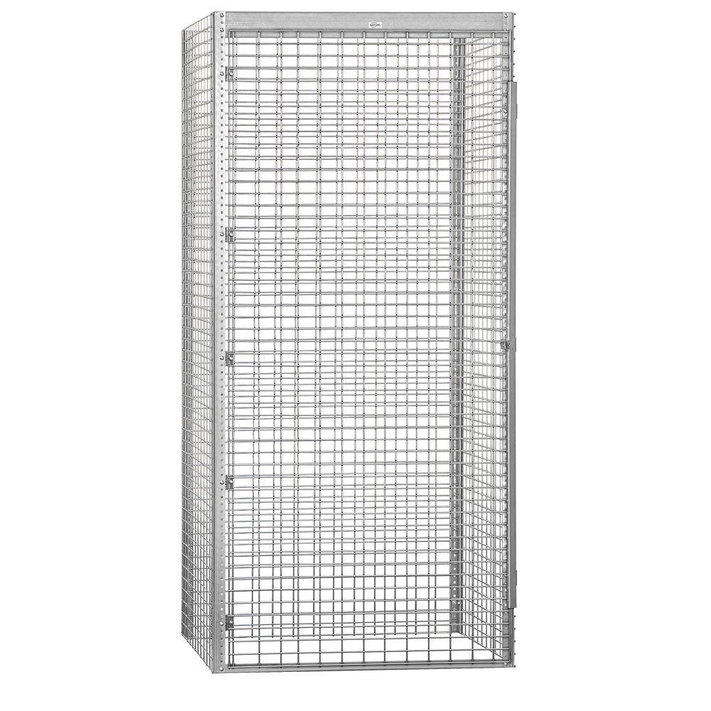 8100 Series 48 in. W x 90 in. H x 36 in. D 1-Tier Bulk Storage Locker Starter in Aluminum