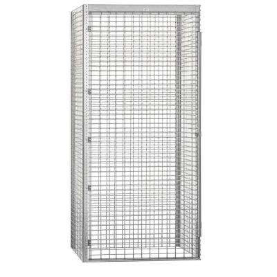8100 Series 48 in. W x 90 in. H x 36 in. D 1-Tier Bulk Storage Locker Starter in Aluminum