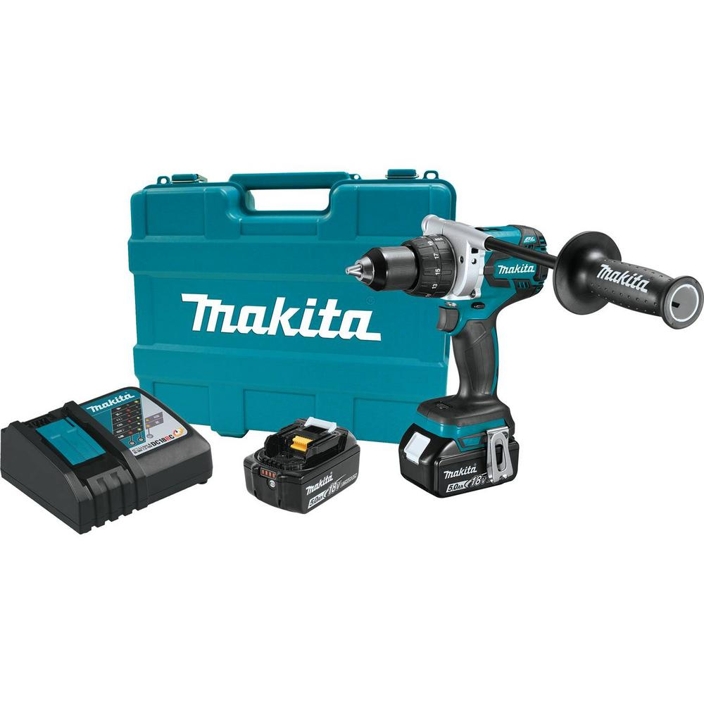 Makita 18-Volt LXT Lithium-Ion Brushless Cordless 1/2 in. Driver Drill Kit 5.0Ah