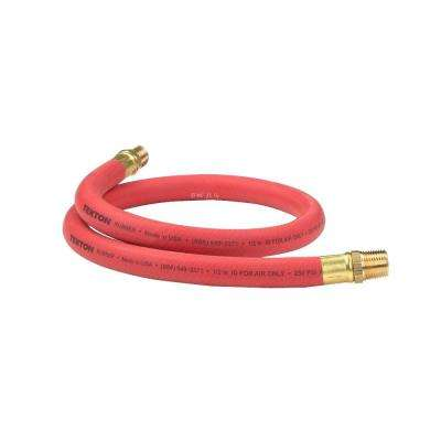 3 ft. x 1/2 in. I.D. Rubber Lead-In Air Hose (250 PSI)