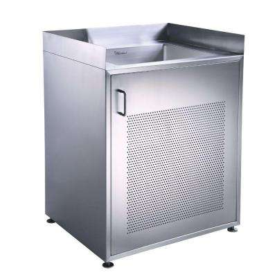 Noah's Collection 30 in. Stainless Steel Utility Sink and Cabinet