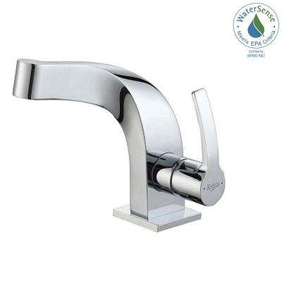 Typhon Single Hole Single-Handle Mid-Arc Bathroom Faucet in Chrome