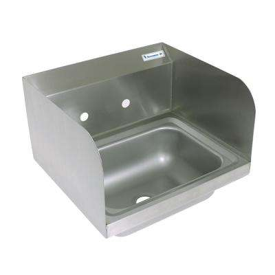 17 in. x 15.5 in. x 13 in. Stainless Steel Wall Mount Hand Sink