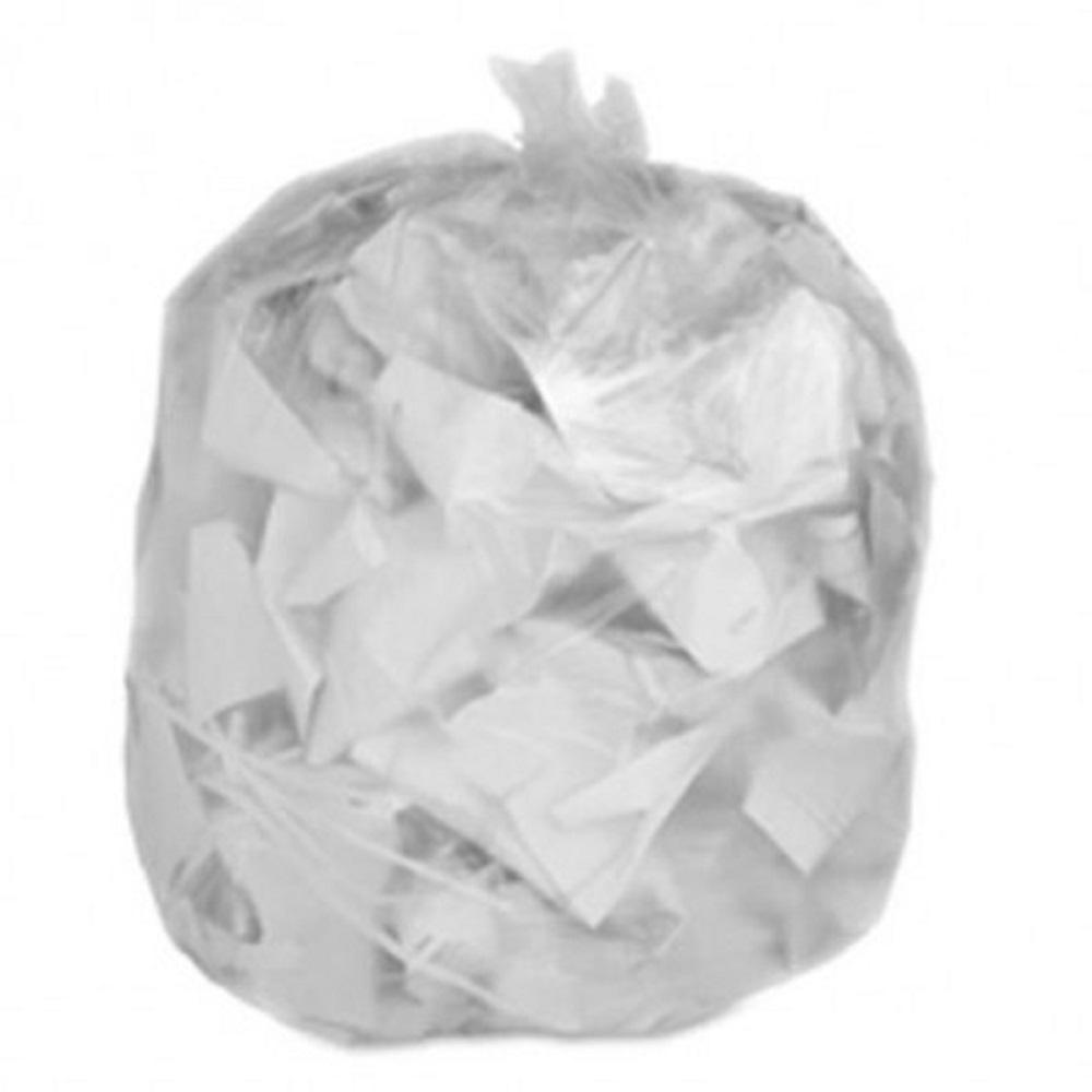 Plasticplace 55 60 Gal Clear High Density Trash Bags