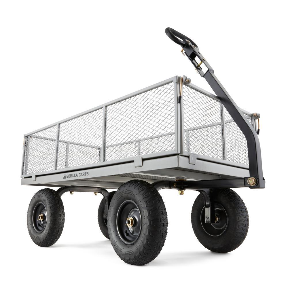 GORILLA CARTS 1,000 lb. Heavy-Duty Steel Utility Cart