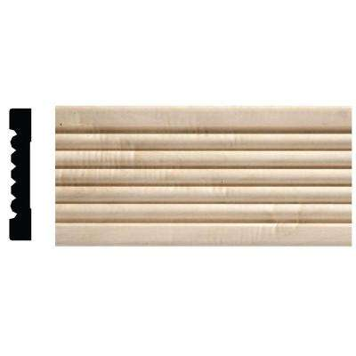 1753 1/2 in. x 3 in. x 6 in. Hardwood White Unfinished Beaded Casing Moulding Sample