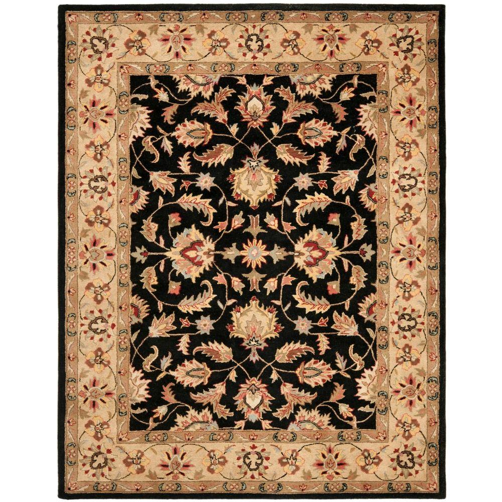 Large Area Rugs Gold: Safavieh Heritage Black/Gold 6 Ft. X 9 Ft. Area Rug-HG957A