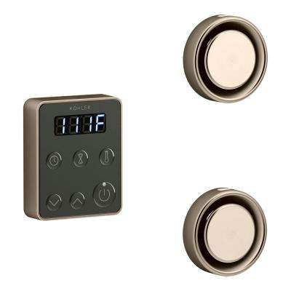 Invigoration Steam Bath Generator Tandem Control Kit in Vibrant Brushed Bronze