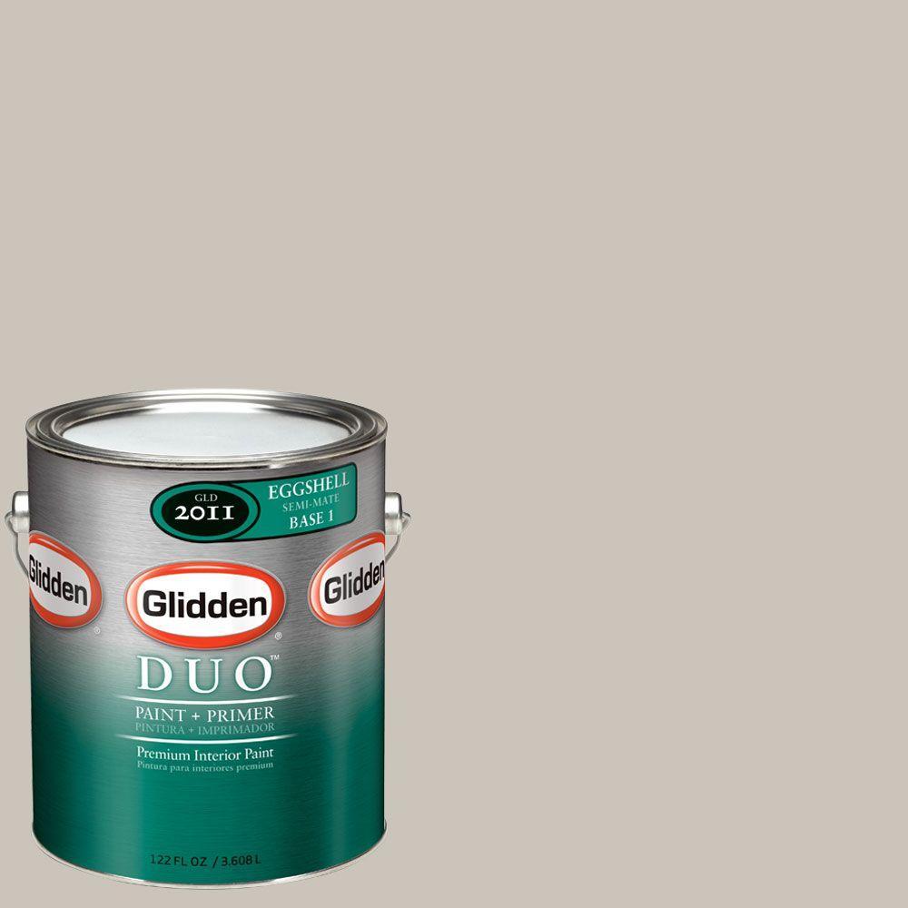 Glidden DUO Martha Stewart Living 1-gal. #MSL240-01E Sharkey Gray Eggshell Interior Paint with Primer-DISCONTINUED