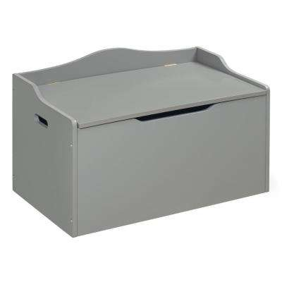 Gray Bench Top Toy Box Trunk