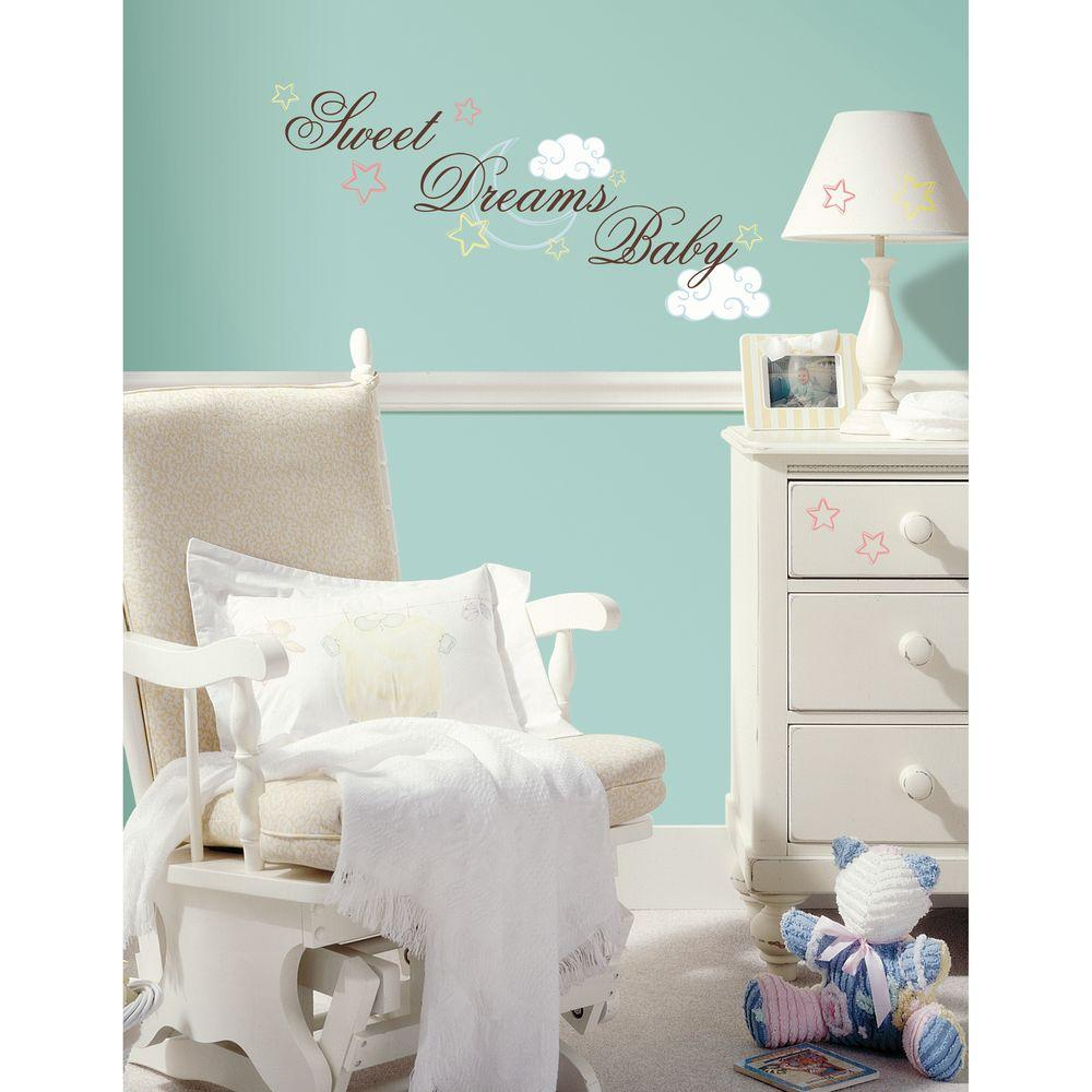 RoomMates Sweet Dreams Baby Peel And Stick Wall DecalRMKSCS - Nursery wall decals home depot