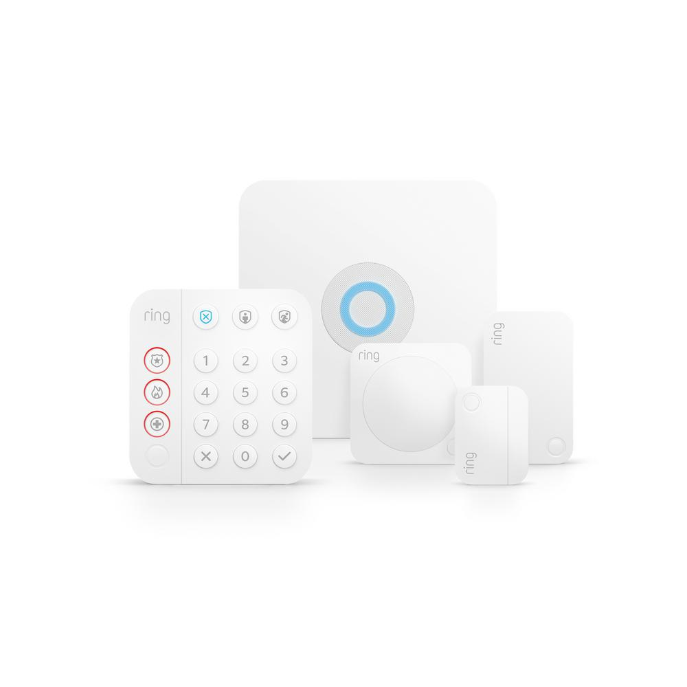 Ring® 5-Piece Alarm Home Security Kit in White