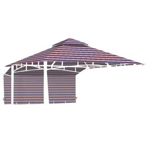 Sunjoy Replacement Canopy Set For L Gz747pst A 10x10 Lansing Gazebo 110109492 The Home Depot