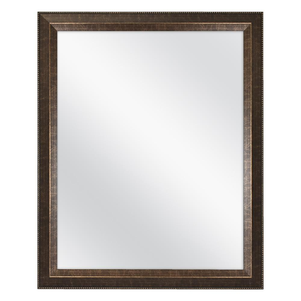Home Decorators Collection 26 in. W x 32 in. L Framed Fog Free Wall Mirror in Antique Bronze