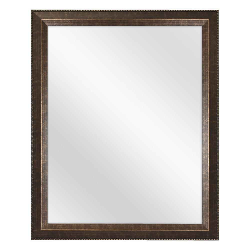 32 in. W x 26 in. H Framed Rectangular Anti-Fog Bathroom Vanity Mirror in Antique Bronze Finish