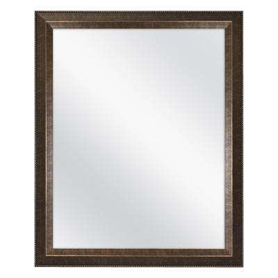 L Framed Fog Free Wall Mirror in Antique