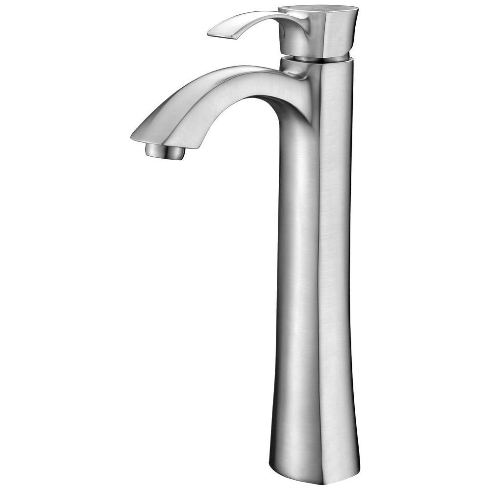 Harmony Series Single Hole Single-Handle Vessel Bathroom Faucet in Brushed