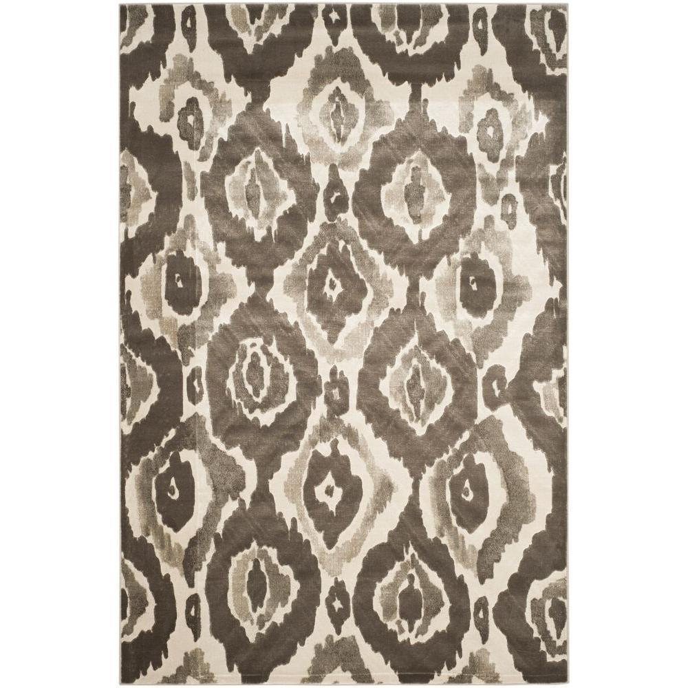 Porcello Ivory/Dark Grey 5 ft. 2 in. x 7 ft. 6