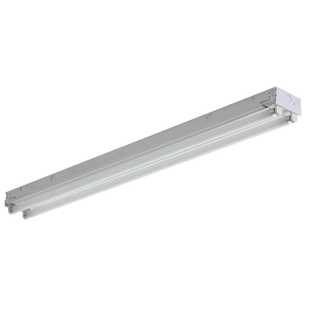 Lithonia Lighting 2 Light White Electronic Channel Fluorescent Strip