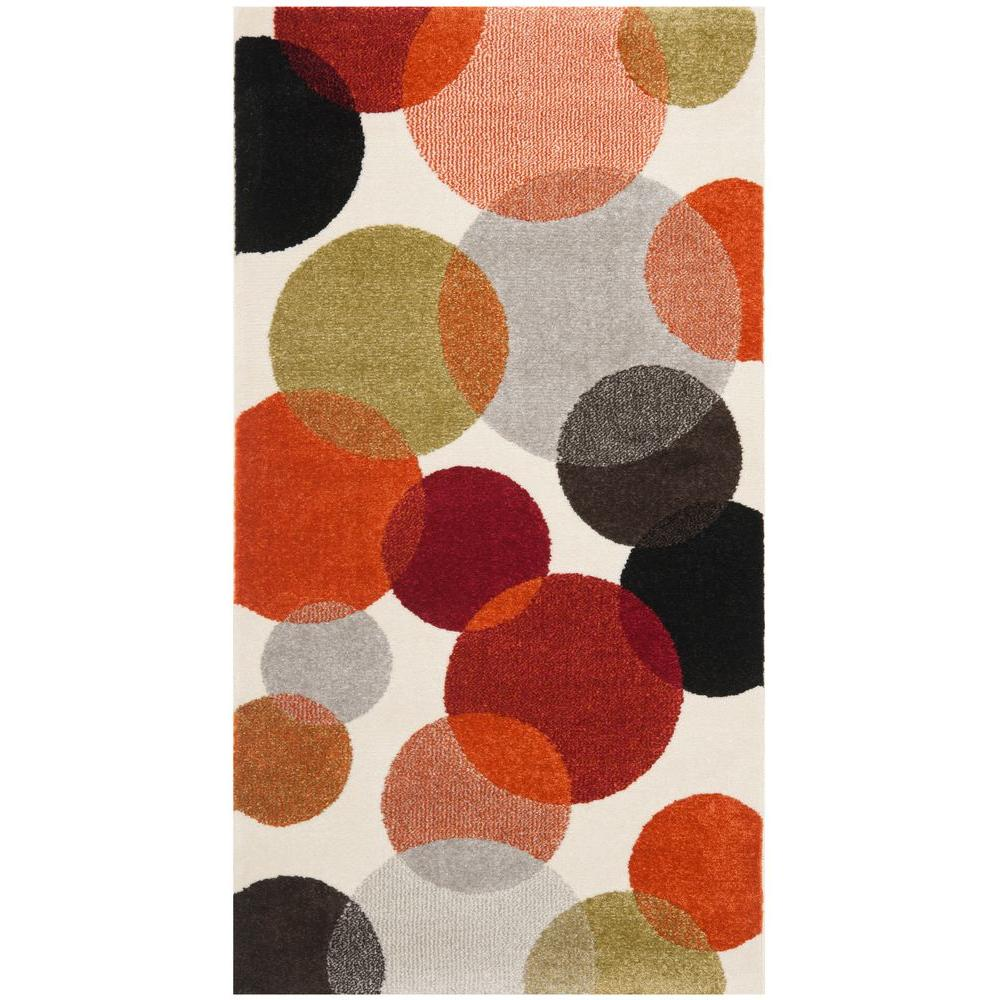 Porcello Ivory/Multi 2 ft. 7 in. x 5 ft. Area Rug