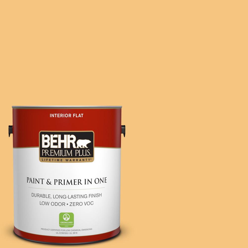 1 gal. #PPU6-07 Jackfruit Zero VOC Flat Interior Paint