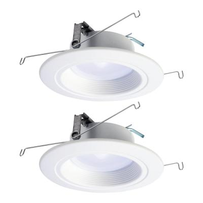 RL 5 in. and 6 in. 1221 Lumens Selectable White Integrated LED Recessed Ceiling Light Trim CCT, Extra Brightness(2-Pack)
