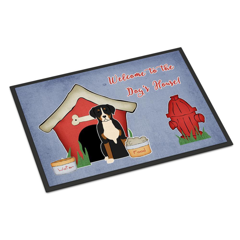 18 in. x 27 in. Indoor/Outdoor Dog House Collection Greater Swiss Mountain Dog Door Mat