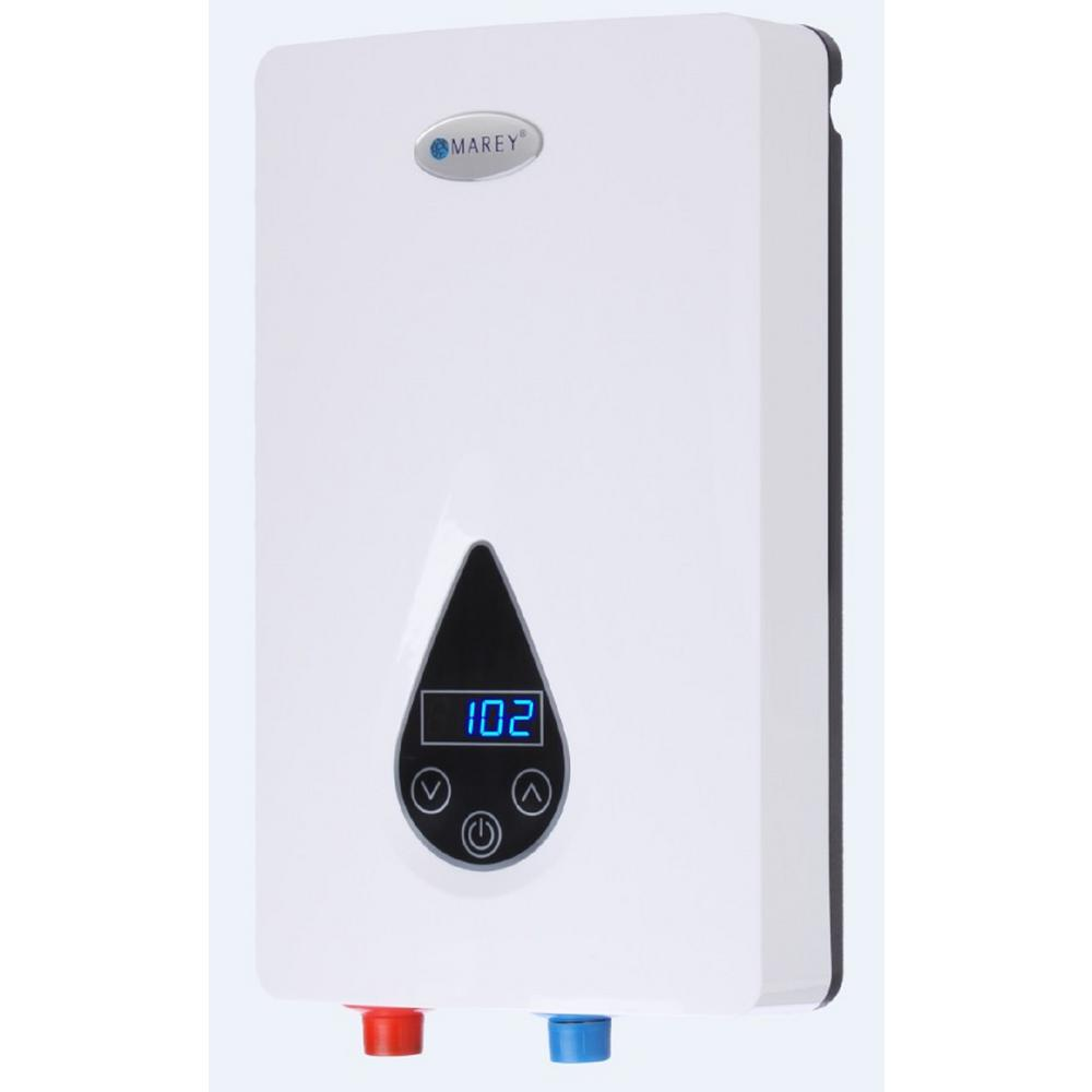Marey 220-Volt Self-Modulating 11 kW 3.0 GPM Multiple Poi...