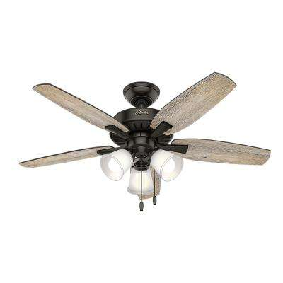 Oakfor 48 in. LED Indoor Noble Bronze Ceiling Fan