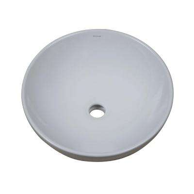 CLASSICALLY REDEFINED ROUND ABOVE-COUNTER VITREOUS CHINA BATHROOM SINK