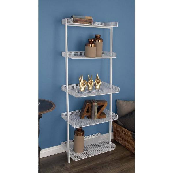 Litton Lane 23 in. x 62 in. 5-Tier Iron Leaning Wall