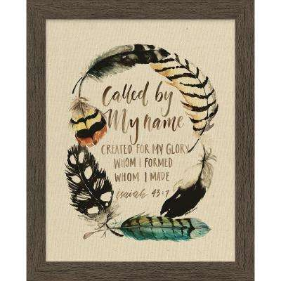 "GraceLaced ""Call By My Name"" by GraceLaced for Carpentree Printed Framed Natural Canvas Wall Art"