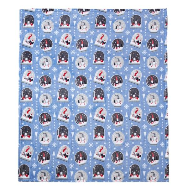 Christmas Snow Globe Gnome 50 X 60 Inches Throw Blanket M642302 The Home Depot