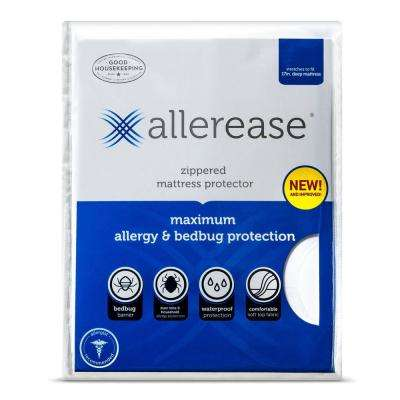 Vinyl Free and Hypoallergenic Twin Maximum Allergy and Bedbug Waterproof Zippered Mattress Protector