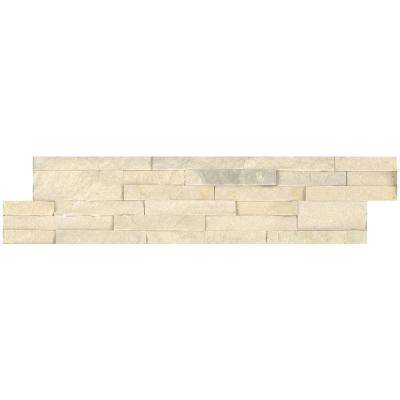 Salvador Beige Ledger Panel 6 in. x 24 in. Natural Sandstone Wall Tile (10 cases/80 sq. ft./pallet)