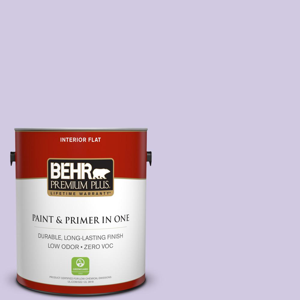 BEHR Premium Plus 1-gal. #650C-3 Light Mulberry Zero VOC Flat Interior Paint