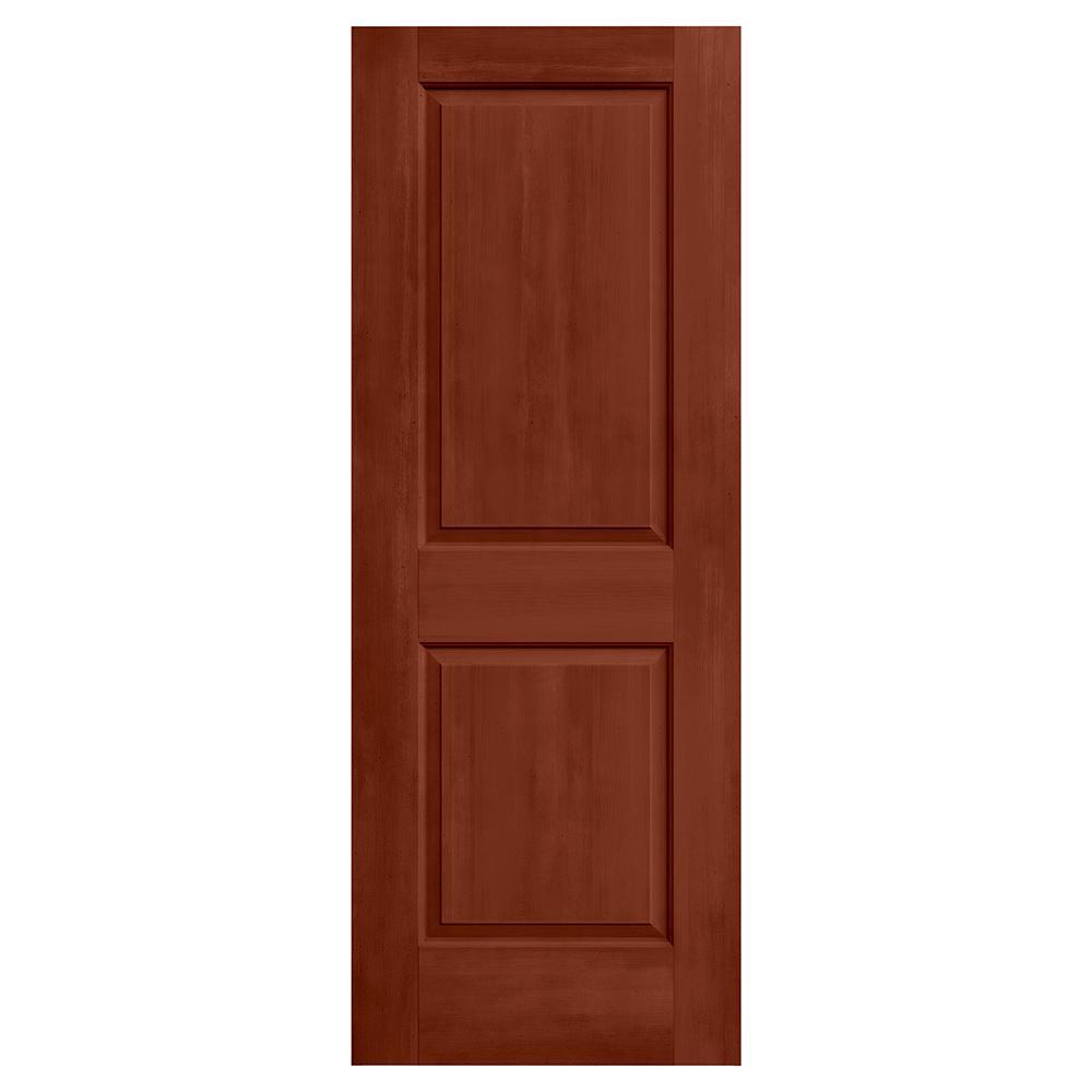 28 in. x 80 in. Cambridge Amaretto Stain Solid Core Molded Composite MDF Interior Door Slab