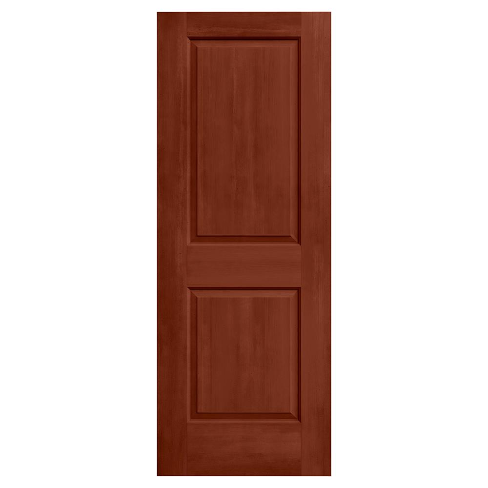 Jeld wen 30 in x 80 in cambridge amaretto stain solid for Solid core mdf interior doors