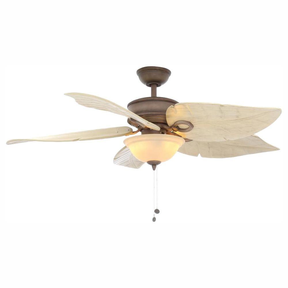 Hampton Bay Costa Mesa 56 in. LED Indoor/Outdoor Weathered Zinc Ceiling Fan with Light Kit