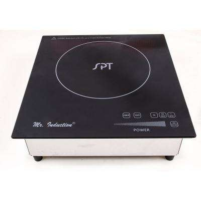 12 in. Built-In Electric Commercial Induction Cooktop in Black with 1 Element