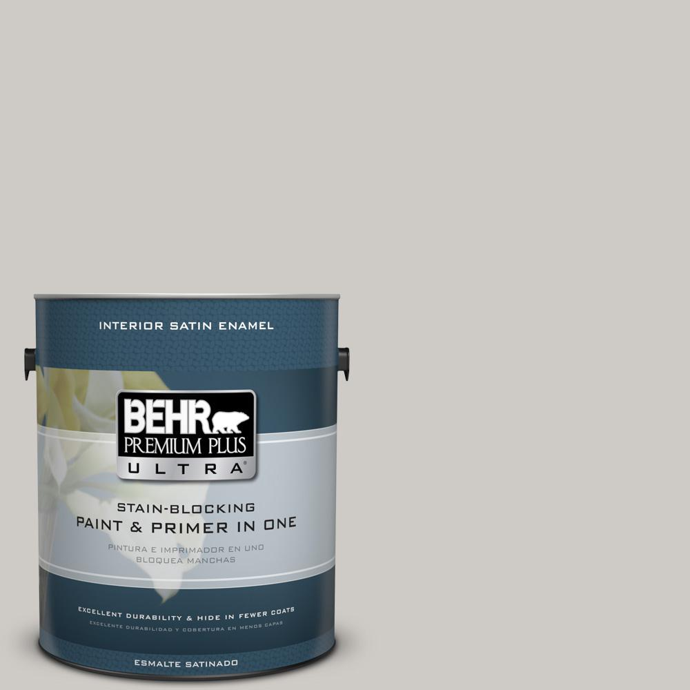 1 gal. #PPU26-10 Chic Gray Satin Enamel Interior Paint