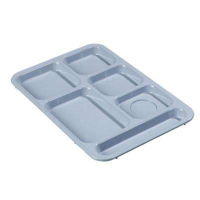 14.37x10 in. ABS Plastic Right Hand 6-Compartment Tray in Slate Blue (Case of 24)