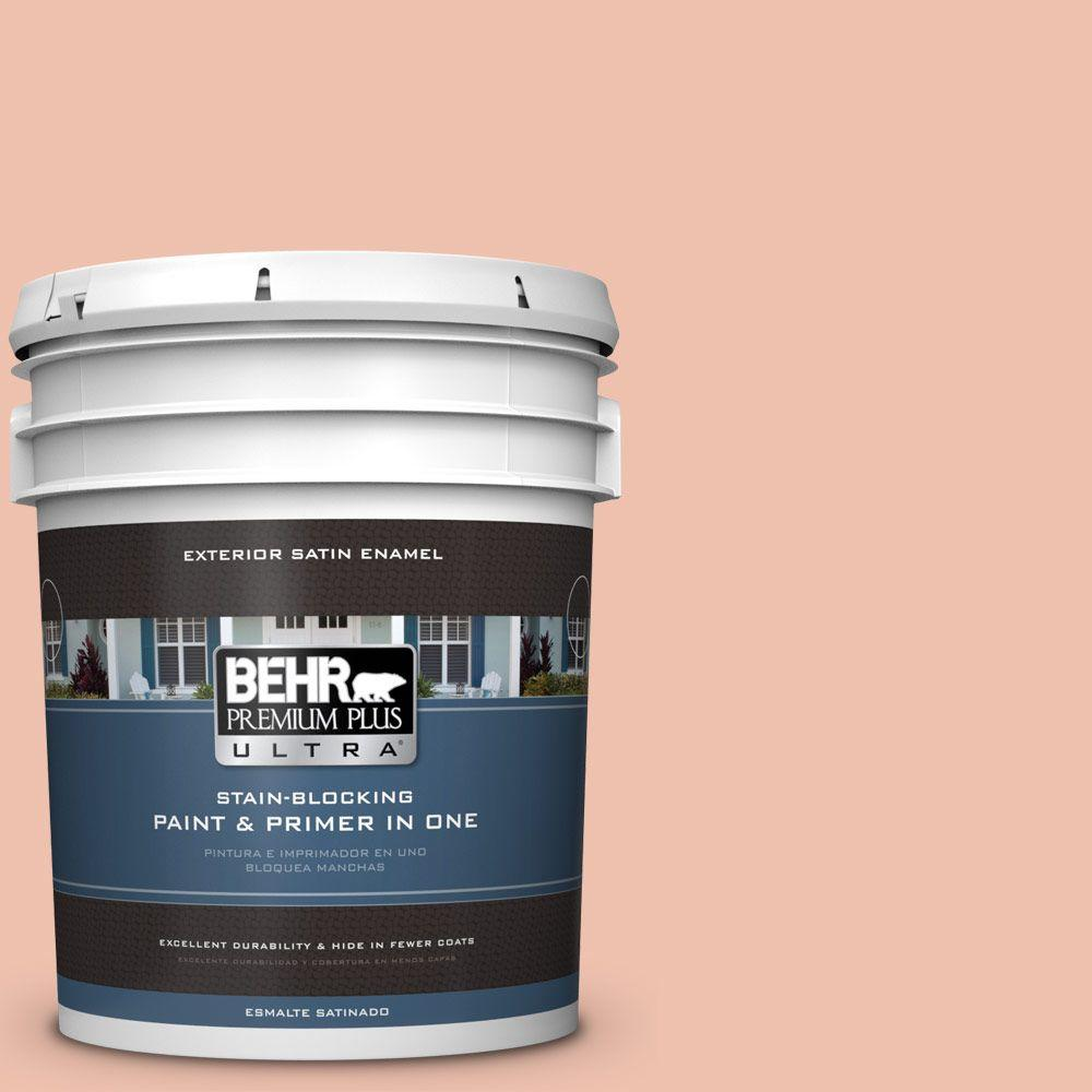 5-gal. #M180-3 Flamingo Feather Satin Enamel Exterior Paint